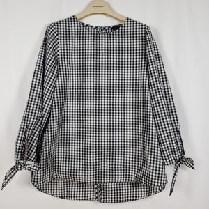 Topshop Gingham blouse